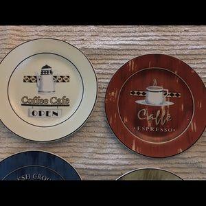 Century Wall Art - Century Coffee Decor Plates Set of Four